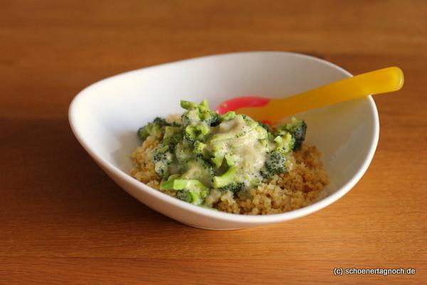 Bulgur mit Brokkoli und Frischkäsesauce - Essen für Kleinkinder