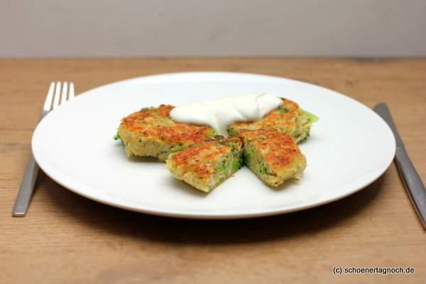 Brokkoli-Couscous-Bratlinge mit Joghurtdip - Essen für Kleinkinder