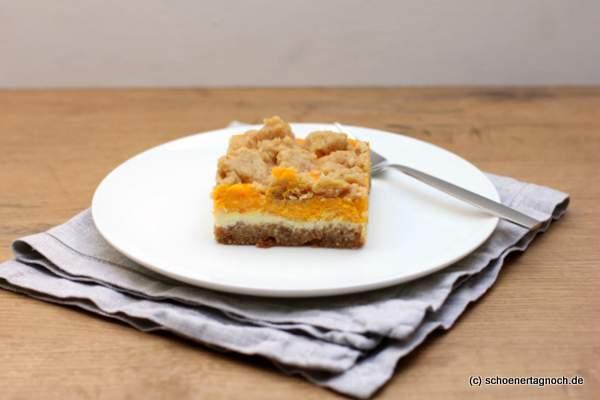 Kürbis-Cheesecake mit Streuseln