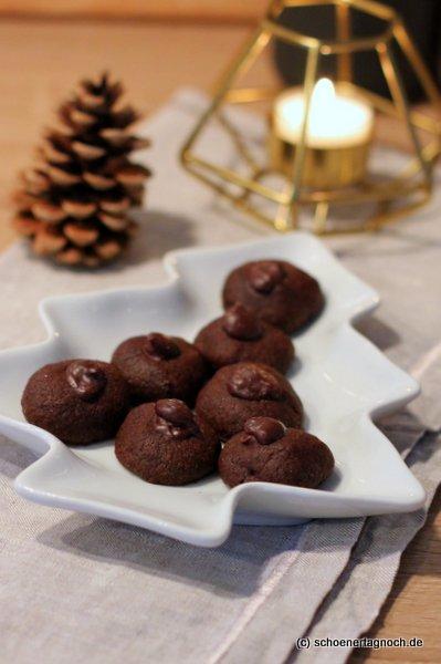 Rezept für Schokoladen-Husarenkrapfen mit Espressoganache