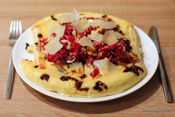 Schwarzwurzel-Pfannkuchen mit Radicchio