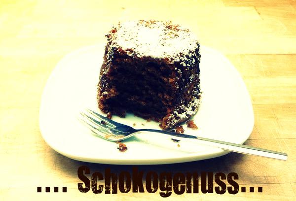 Schokoladenkuchen im Glas