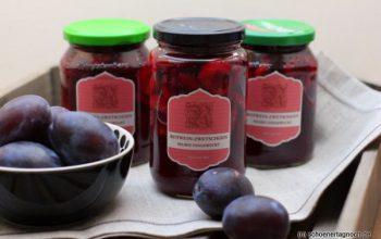 Nachgemacht: Eingeweckte Rotwein-Zwetschgen