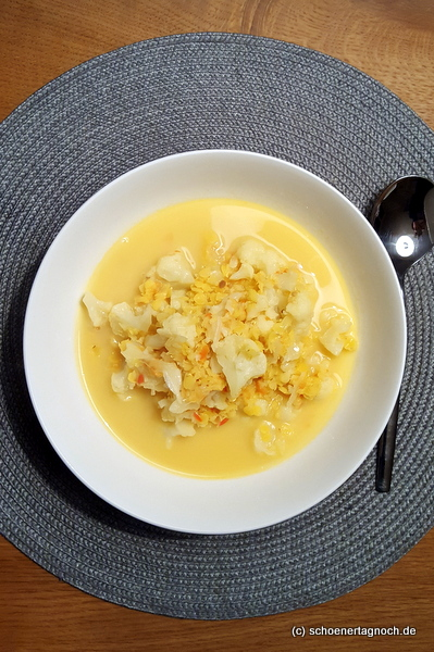 Blumenkohl-Linsen-Suppe