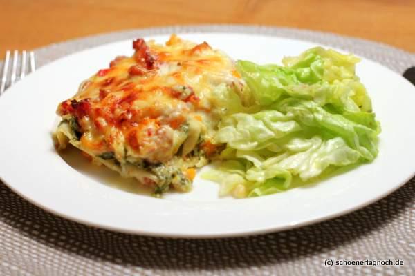 Nachgekocht: Kürbis-Salsiccia-Lasagne mit Rucola-Schmand