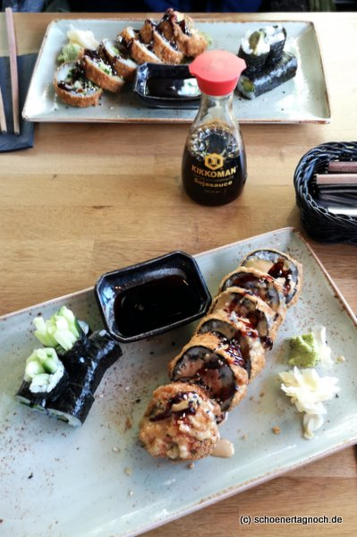 Tempura Sushi im Taumi Asia Fusion Restaurant in Karlsruhe