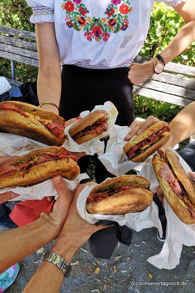 6 Pastrami-Sandwiches von der Metzgerei Brath in Karlsruhe