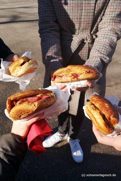 Pastrami-Sandwich und Burger von der Metzgerei Brath in Karlsruhe