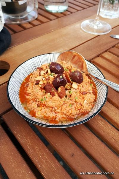 Rezept für Tomaten-Salzmandel-Dip zum Grillen