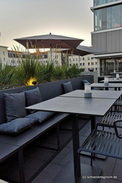 Terrasse des Restaurants Tawa Yama in Karlsruhe-Durlach