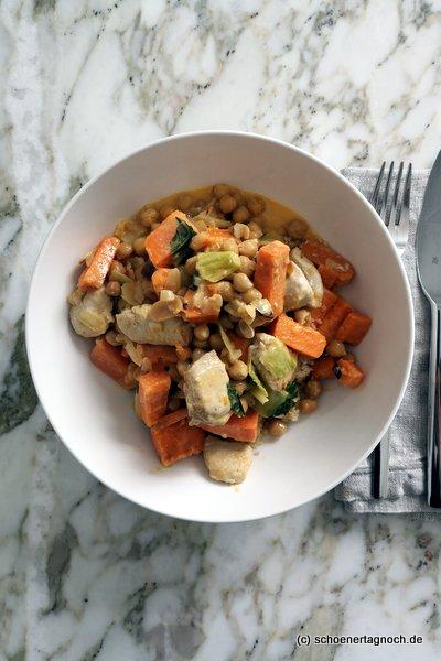 Hähnchen-Süßkartoffel-Curry mit Couscous