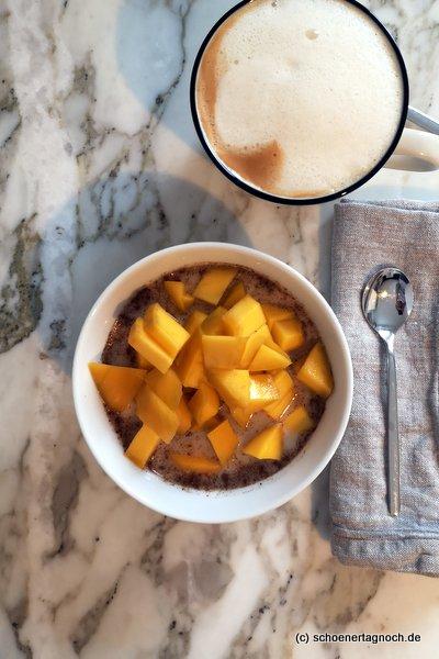 Overnight Oats mit Mango
