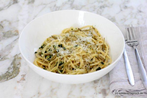 Spaghetti mit Bärlauch-Kapern